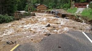 Boulder-flood