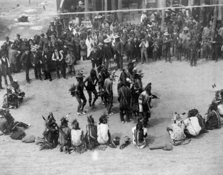 Cheyenne indian pow wow dance - Montana ca.1890