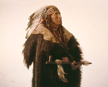 JB Crow Indian with Peace Pipe