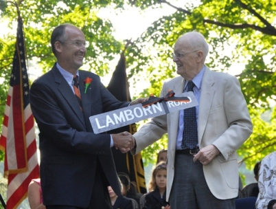 Doc and Bob Lamborn honored