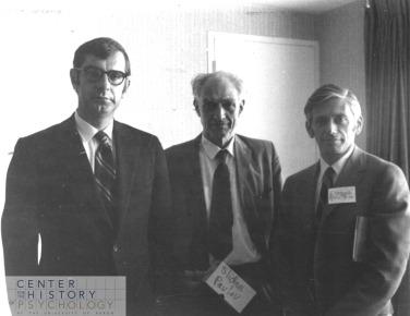 John A. Popplestone, W. Horsley Gantt, and Bernard Weiss at the annual APA Meeting (1969)