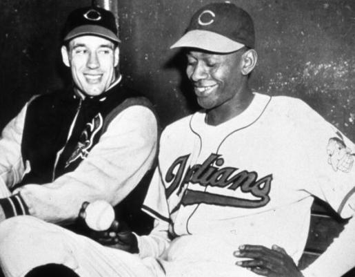 Satchel Paige Bob Feller Cleveland Indians