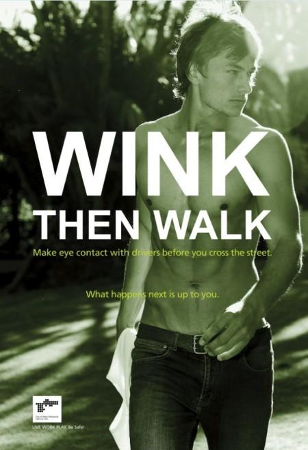 Wink then Walk