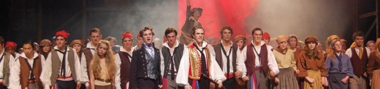 Cast of Les Mis at Jesuit High School, Portland