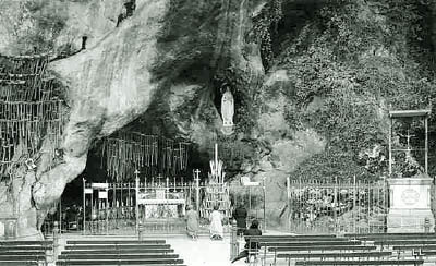 Image result for crutches miracle of lourdes